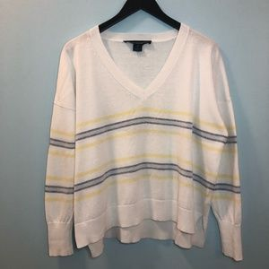 French Connection Cotton V-Neck Sweater